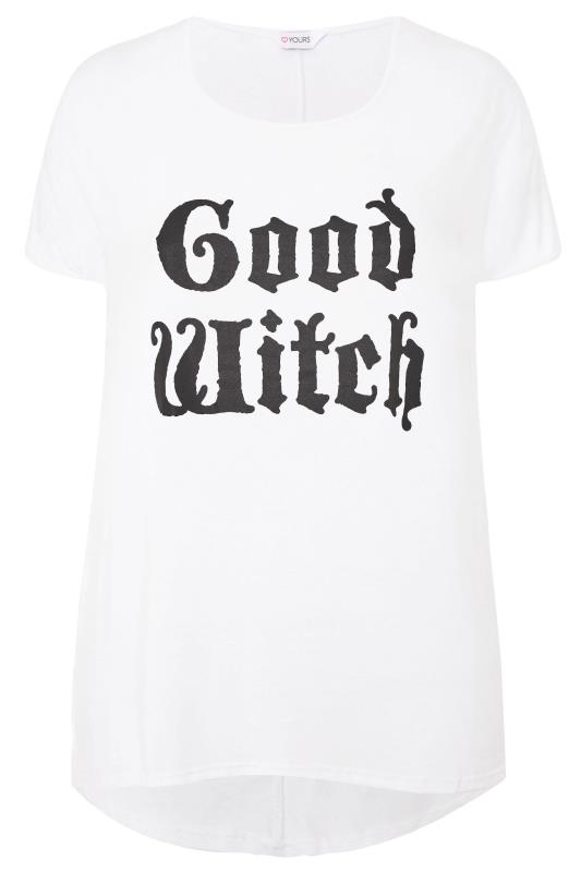White 'Good Witch' Slogan Top