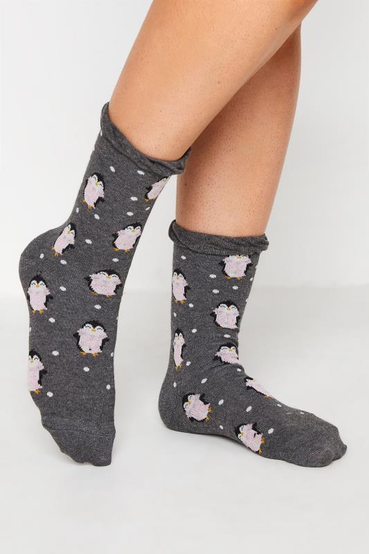 Plus Size  4 PACK Multi Novelty Winter Animal Ankle Socks