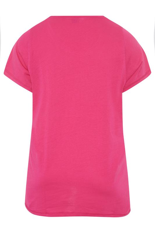 Pink 'Let Me Sleep' Dipped Back Pyjama Top_BK.jpg