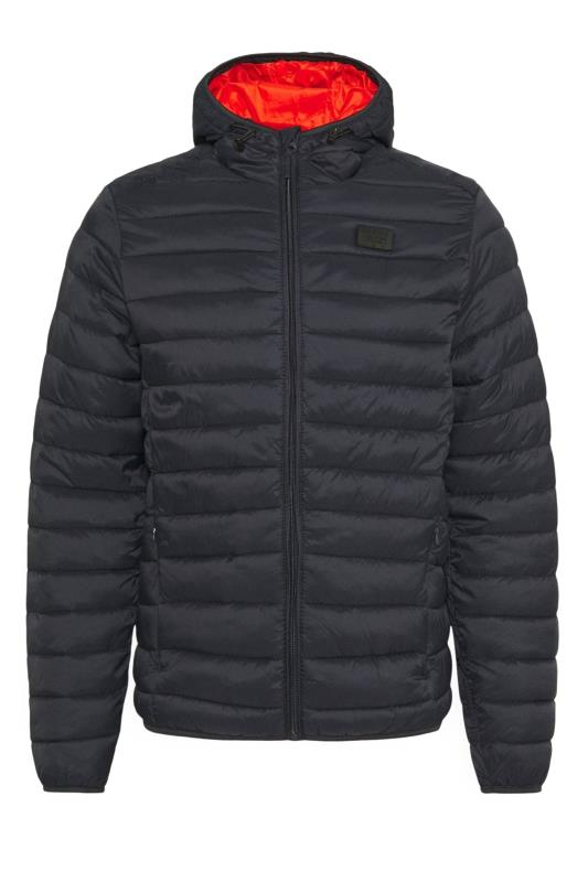 Plus Size Casual / Every Day BLEND Navy Padded Puffer Jacket