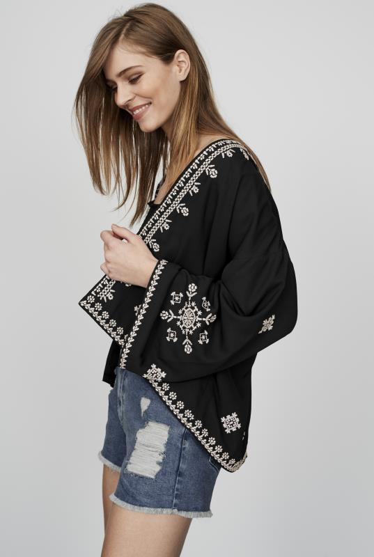 CURATD. x LTS Embroidered Kimono Jacket