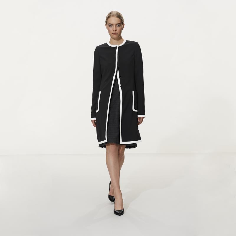 Karl Lagerfeld Paris Tipped Longline Jacket