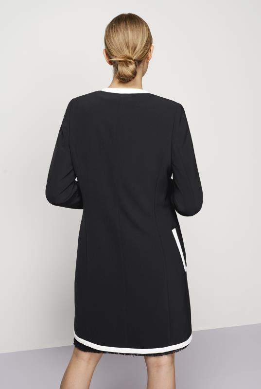 KARL LAGERFELD Black Tipped Longline Jacket