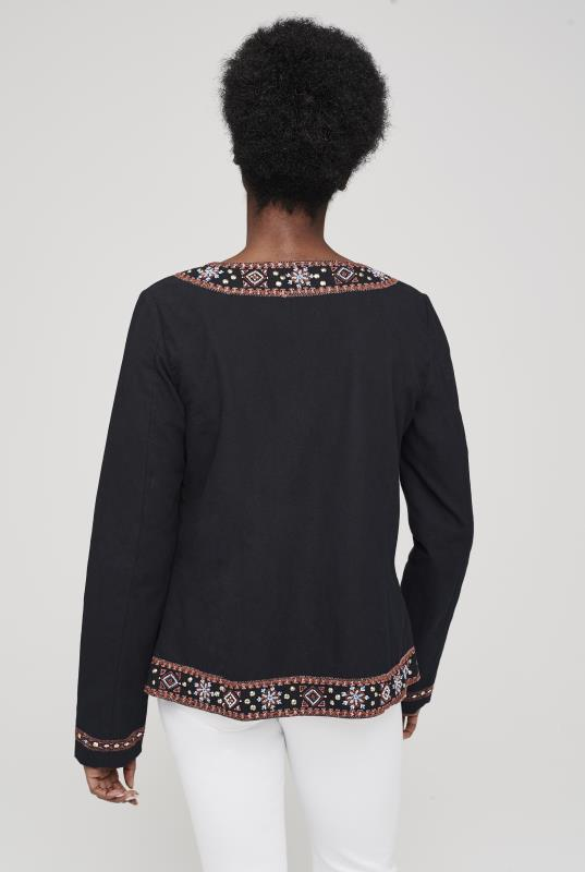 Embroidered Trim Jacket