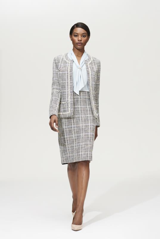 Karl Lagerfeld Paris Buttercream Tweed Jacket