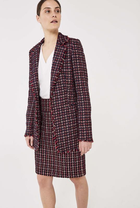 Pink Sparkle Tweed Longline Jacket
