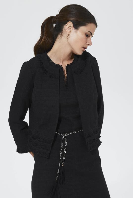 Tall Jackets Karl Lagerfeld Paris Tweed Cropped Jacket