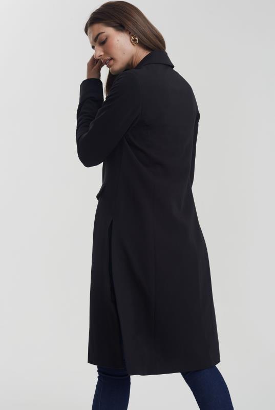 Black Longline Side Split Jacket