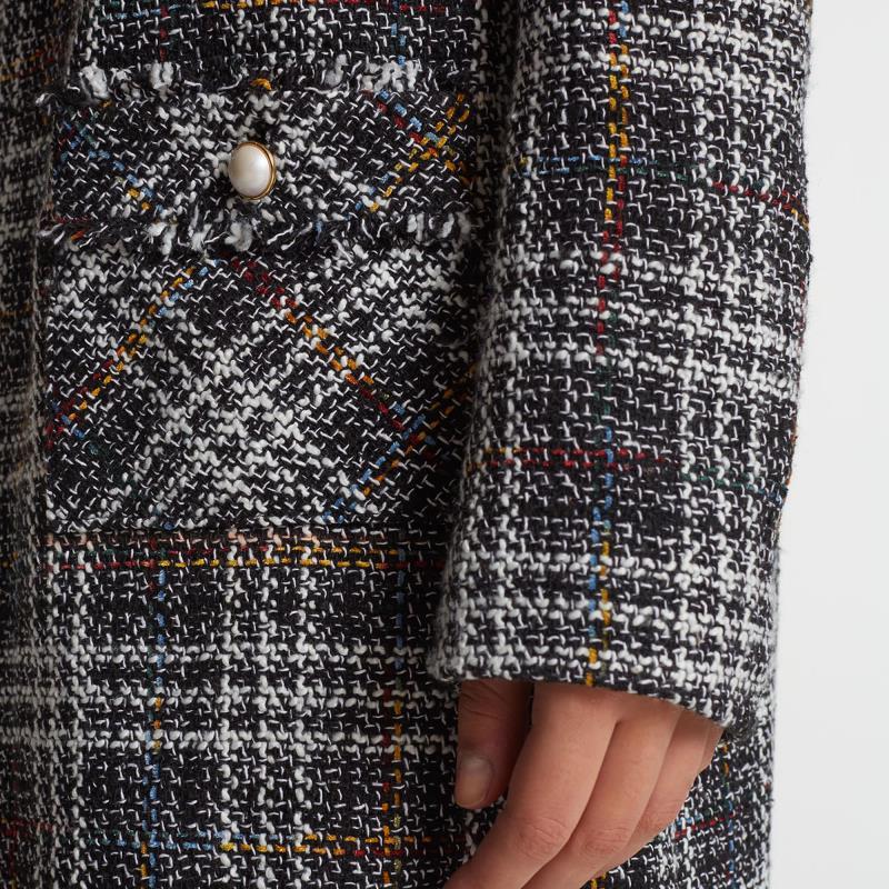Karl Lagerfeld Paris Tweed Longline Topper