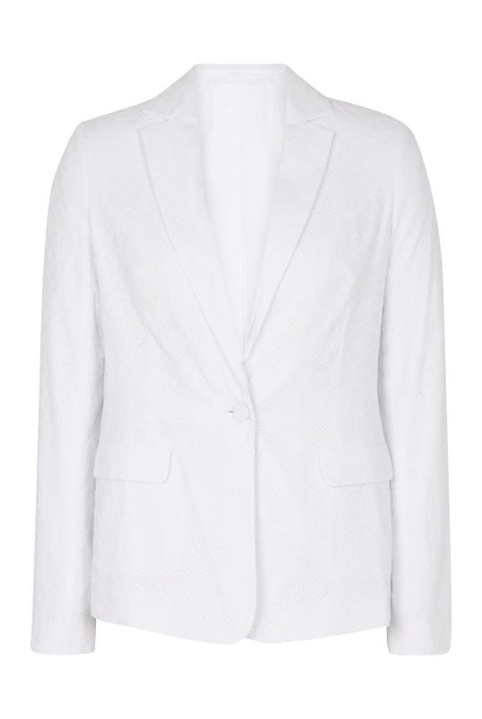 White Broderie Tailored Jacket