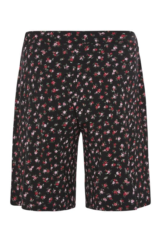 Black Floral Print Jersey Shorts_BK.jpg