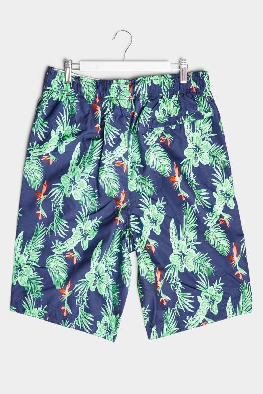 BadRhino Navy Hibiscus Cargo Swim Shorts