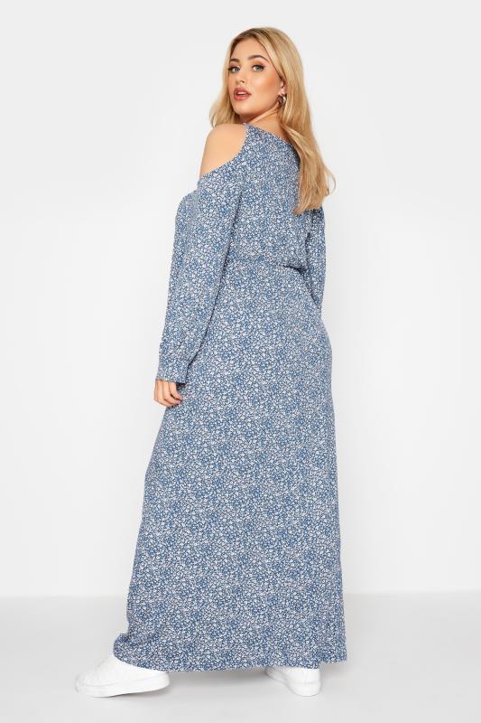Blue Floral Cold Shoulder Maxi Dress_C.jpg