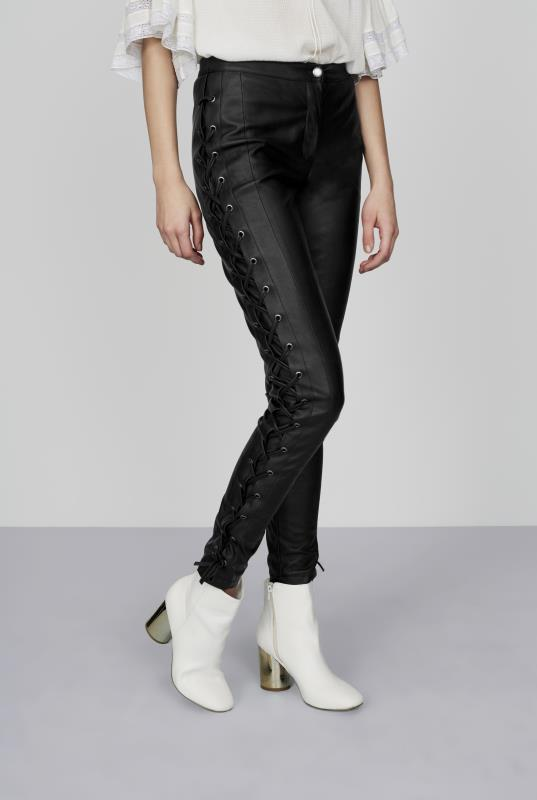 CURATD. x LTS Faux Leather Ankle Grazer Trousers