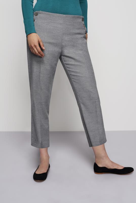 Grey Crop Leg Trouser
