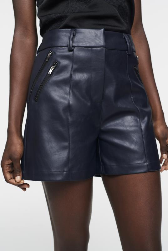 CURATD. x LTS PU Zip Detail Shorts