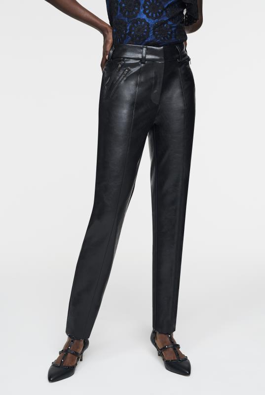 CURATD. x LTS PU Zip Detail Trouser