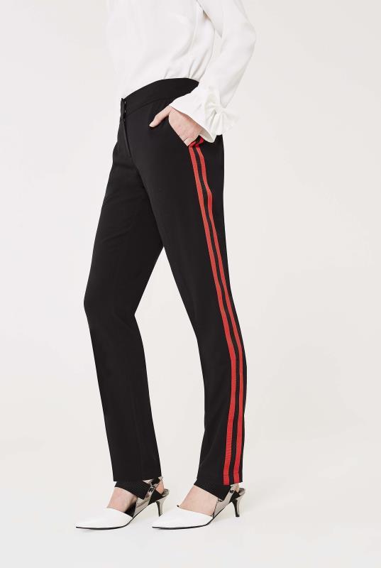 Side Stripe Crepe Trouser