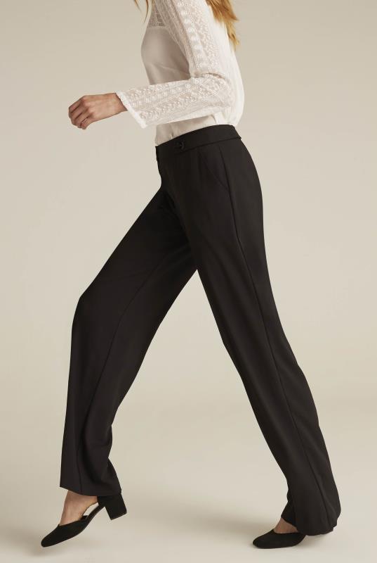 Crepe Wide Leg Trouser