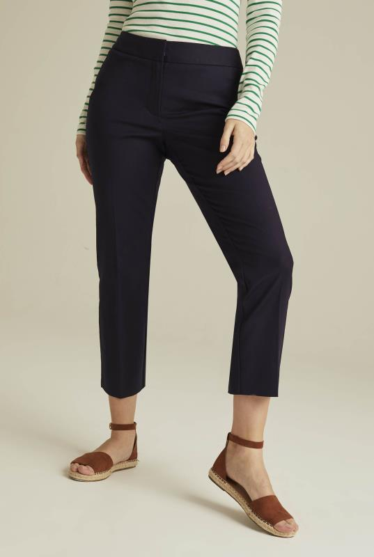Tall Trousers Compact Cotton Crop