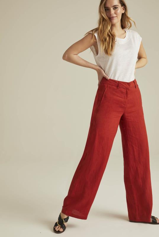 Wide Leg Linen Trouser