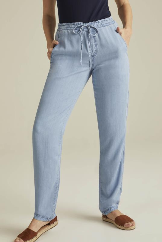 Blue Soft Touch Tencel Trousers