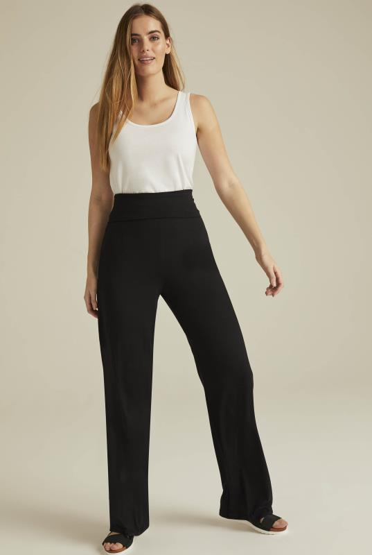 Black Wide Leg Yoga Pant