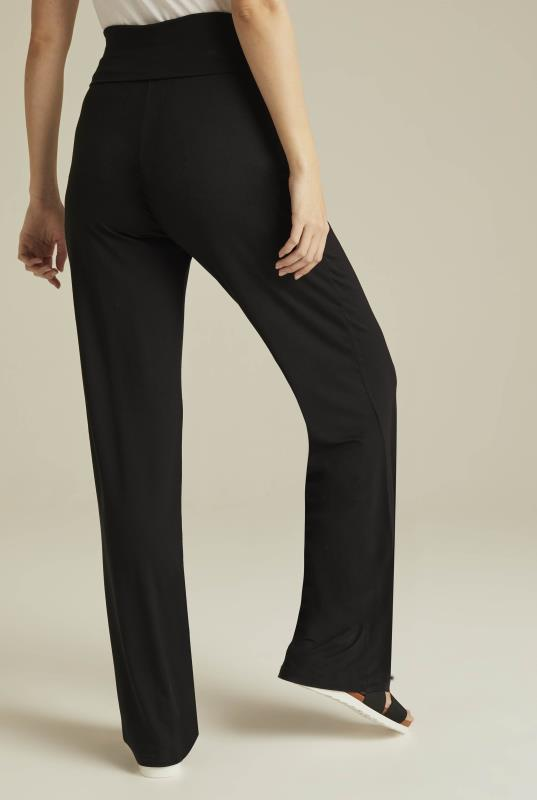 Navy Jersey Wide Leg Yoga Pant