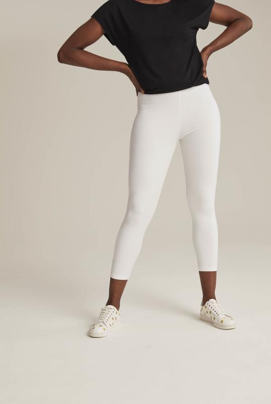 White Cropped Legging