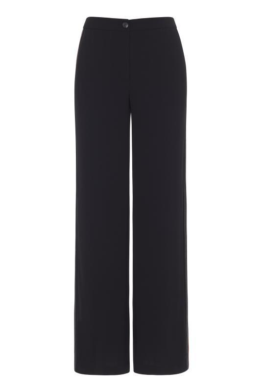 Black Side Stripe Wide Leg Trousers