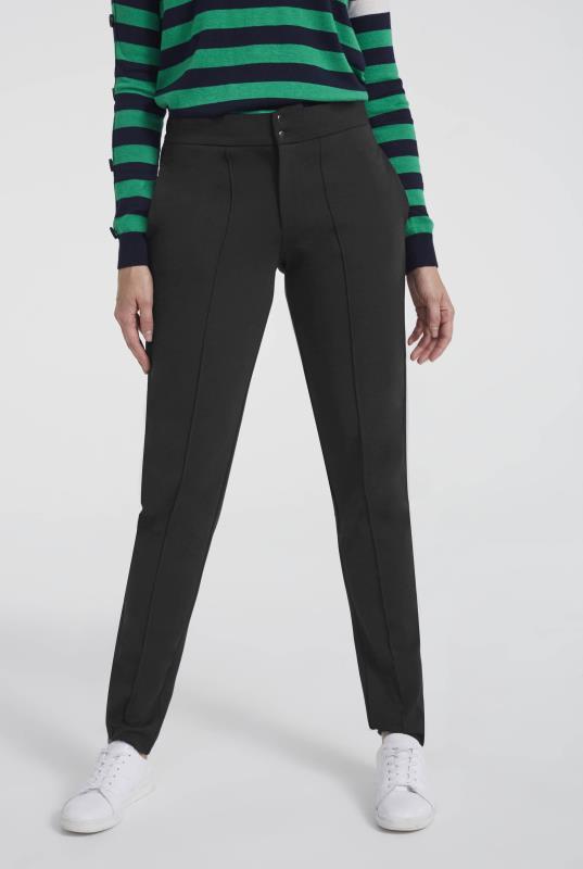 Black Casual Pin Tuck Trouser