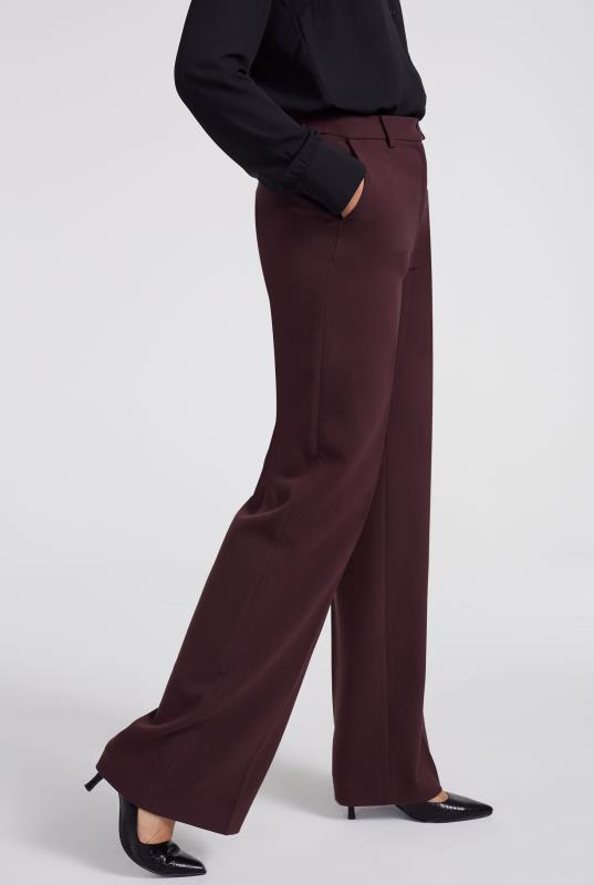 Double Faced Wide Leg Trouser