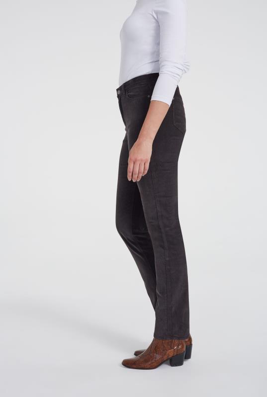 Grey Cord Straight Leg Trouser