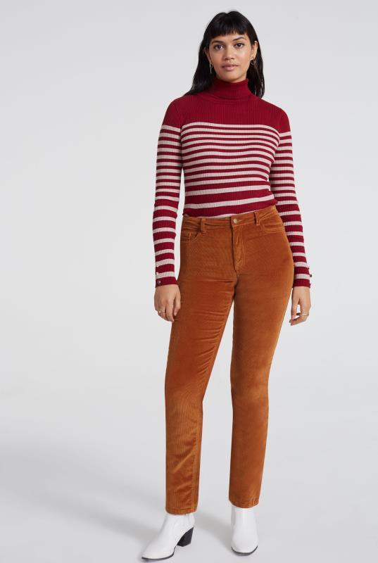 Tall Trousers Tan Cord Straight Leg Trouser