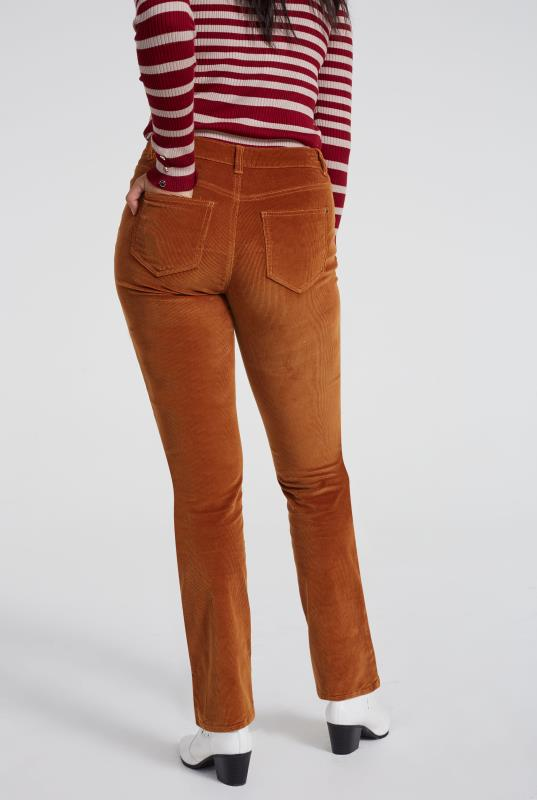 Tan Cord Straight Leg Trouser