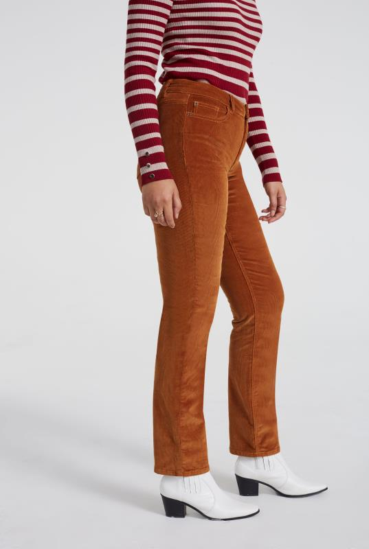 Tan Cord Straight Leg Trouser