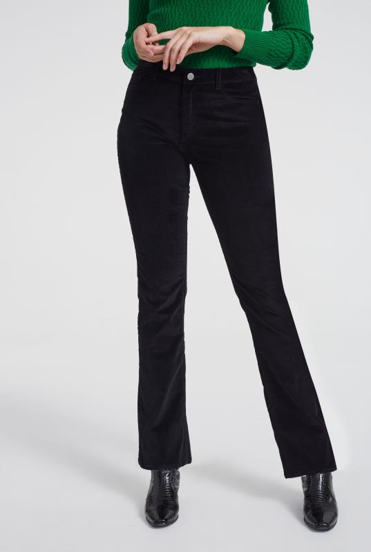 Black Cord Bootcut Trousers