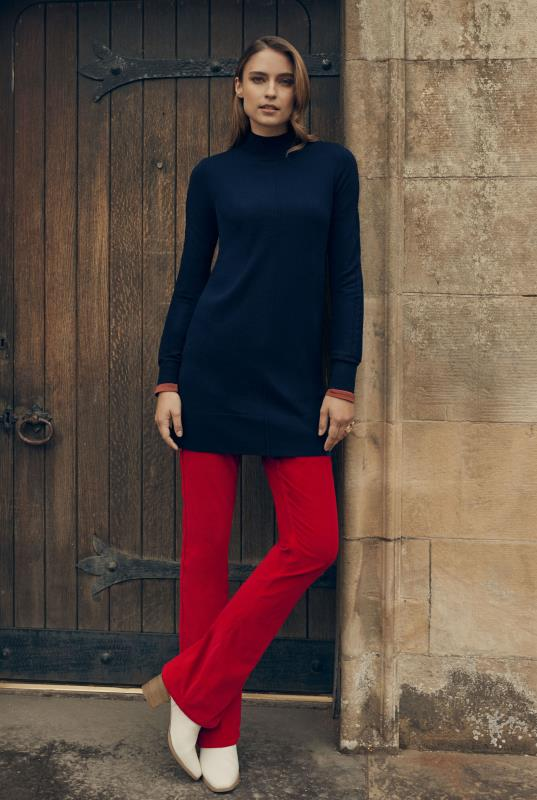 Red Cord Bootcut Trousers