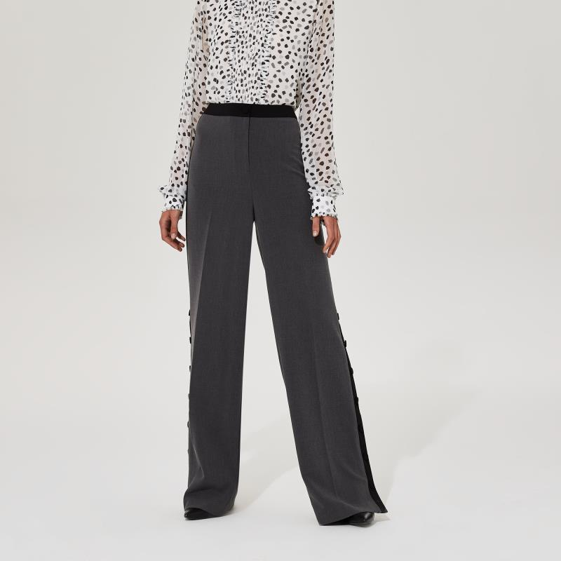 Karl Lagerfeld Paris Flare Leg Button Trouser
