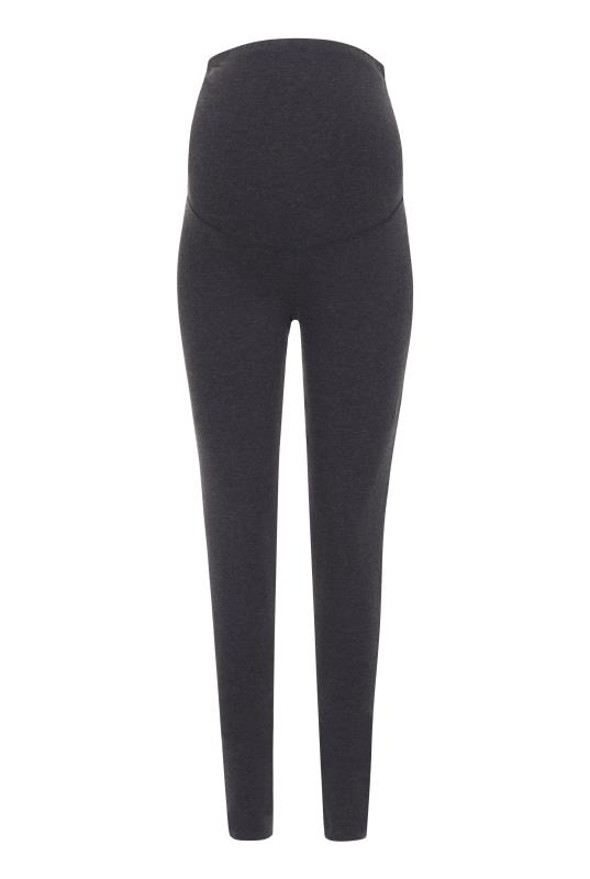 Maternity Charcoal Marl Jersey Leggings