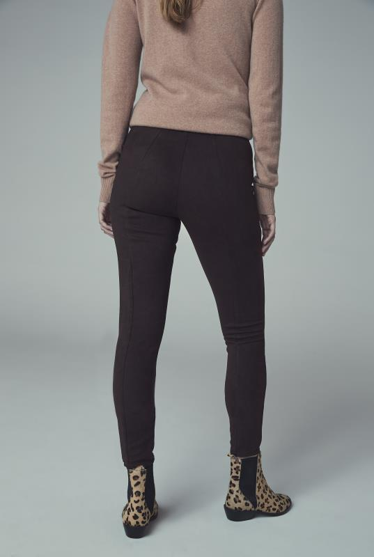 Brown Faux Suede Trousers