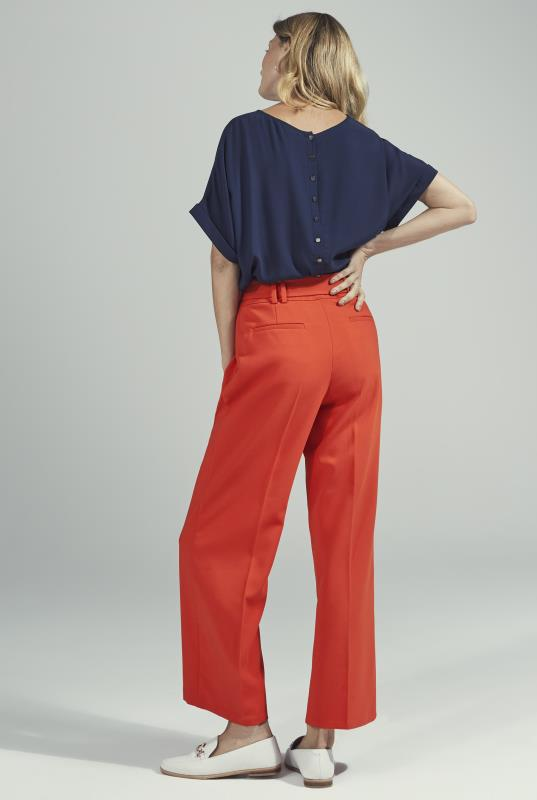 Orange Wide Leg Belted Culottes