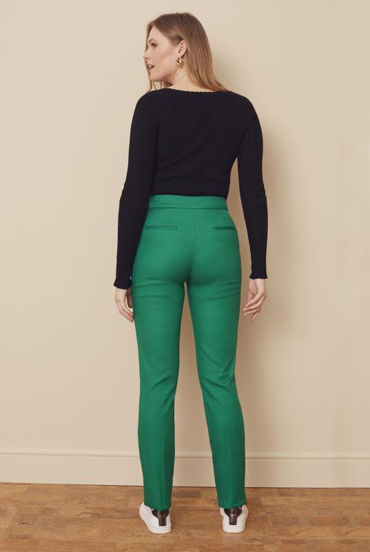 Smart Cotton Sateen Slim Leg Trouser