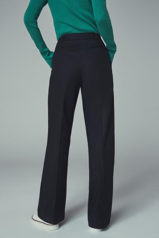Smart Cotton Sateen Wide Leg Trouser