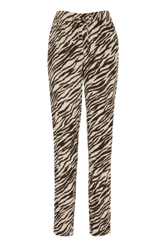 Stone Animal Print Lightweight Trousers