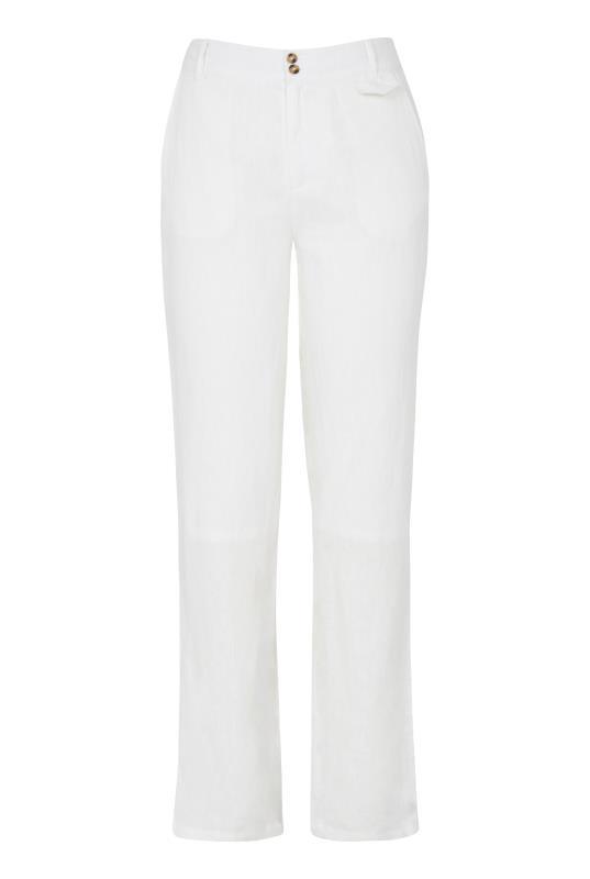 Cream Linen Trousers