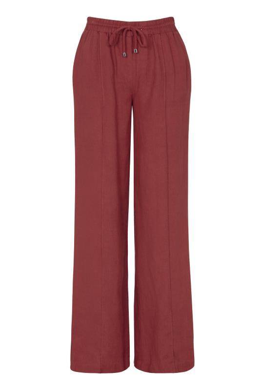 Draw Cord Linen Wide Leg Trouser