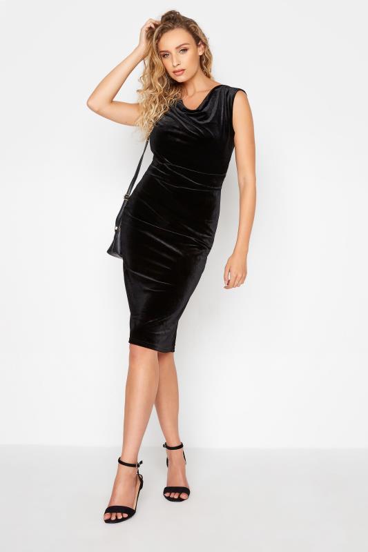 LTS Black Cowl Neck Velvet Dress_B.jpg