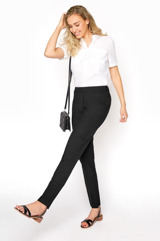 Tall Trousers Black Premium Wool Blend Slim Leg Suit Trouser