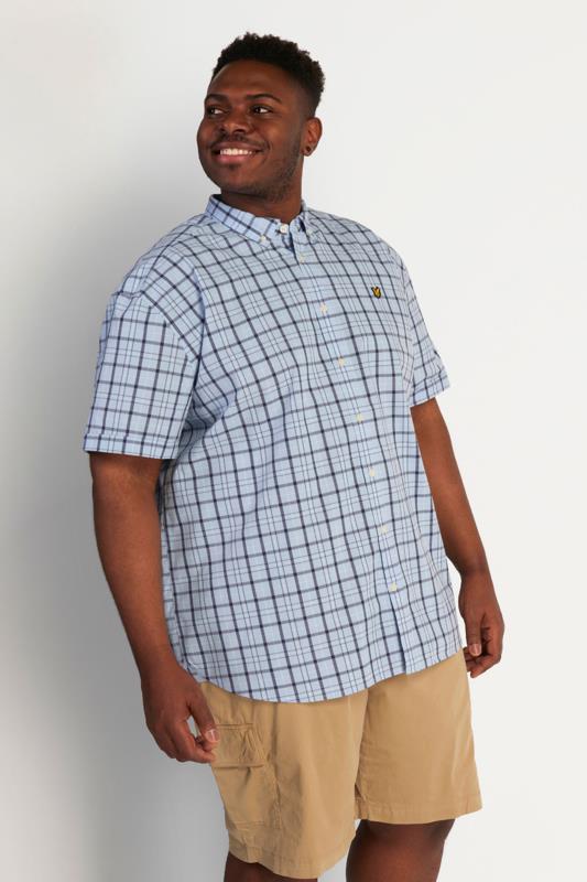 Tallas Grandes LYLE & SCOTT Blue Check Short Sleeve Shirt